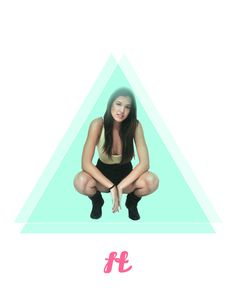 xe2x96xbd FOX TROT xe2x96xbd #apparel #design #graphic #photography #photoshop #triangles #fashion #neon