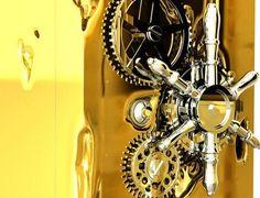 Millionaire safe art wheel #sculpture #art #safe