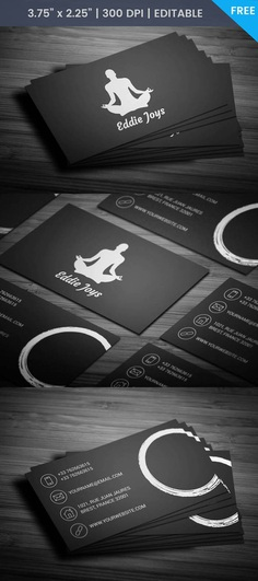 Free Meditation Business Card Template