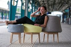 Bounce collection by Veronique Baer #chairs #couch #design #furniture #indoor #seating
