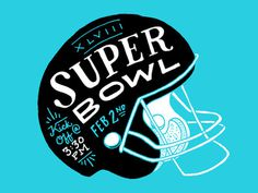 Superbowl Graphic for Class of 47 Poster by Amy Hood #hand drawn #illustration #typography #super bowl