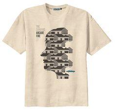 Arcade Fire T-shirt #fashion #t-shirt #graphic #design