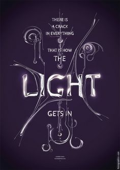 Light - Buzzsgraphics #modern #quote #magenta #illustration #elegant #poster #light #typography