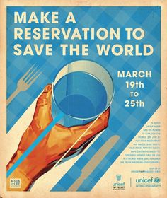 Tap Project Make A Reservation #poster #water #unicef #save