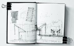 mcewan-c-2011-sketch-study-of-zumthor-p-2011-serpentine-pavilion-notebook-extract #zumthor #of #p #ketch #study