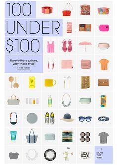 100 under $100. SHOP NOW. #saturday