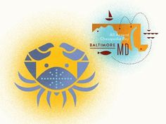 Dribbble - Please Drive Gently by Nate Luetkehans #illustration #baltimore #crab