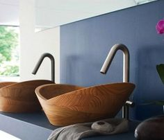 Vessel Sink in Solid Bamboo #gadget
