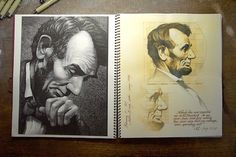 LINCOLN SKETCHBOOK on the Behance Network #illustration #process
