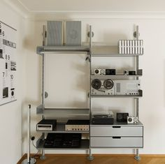 Modular shelving system for home, office, library shelving and retail #dieter rams #vitose