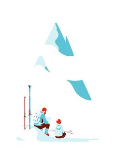 Tom Haugomat | FormFiftyFive – Design inspiration from around the world #skiing #illustration #mountain #vintage