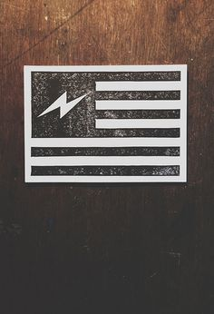 Neuarmy Surplus Co. — Bolt Flag #america #print #lightning