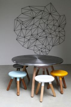 'Spun' chair and table by Glenn and Justin Lamont (AU) @ Dailytonic #design