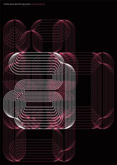 Print-Process #typeface #poster #black #pink #linear #three six