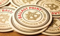New Logo, Identity, and Packaging for Ballast Point by MiresBall #print #alcohol #coaster #branding