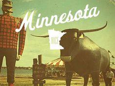 blog « matmacquarrie.ca #minnesota #nice #lumberjack #vintage #postcard #bull