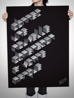 50 Inspirational Typographic Poster Designs | Inspired Magazine #design #typography #type #poster #shapes #cubes #typographic poster