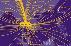 Flight route map