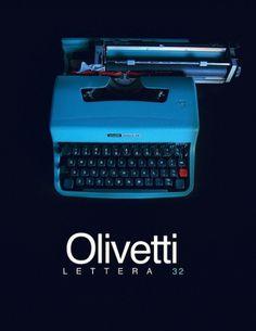 Olivetti Lettera 32 Typewriter (teaser) | Flickr - Photo Sharing! #typewriter #poster