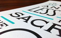 Prefontaine Poster #letterpress #jessica #poster #hische