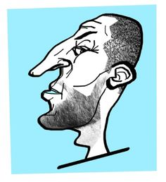 Specialmagazin #illustration #portrait #man #face #profile #nose #character