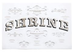 Typeverything.com Shrine – Poster and wrapping... - Typeverything #lettering #letter #paint #hand #typography