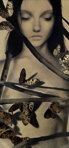 Alessandra Maria's Mystical Muses | Hi Fructose Magazine #butterflies #girl