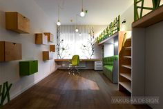 Cube House by Yakusha Design Studio - #kidsroom, #decor, #kidsfurniture, home, kids room