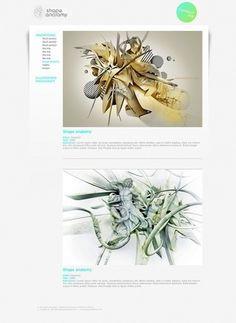 Shape Anatomy on Web Design Served #xcxvxcv