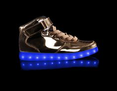 Light Up Shoes Mens Metallic Super Nova (Gold)