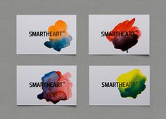 emotional logotype #heart #business #emotion #logic #card #smart #identity #dinamic #watercolor