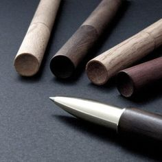 Use this wood and brass retro pen as both a pen and a stylus.