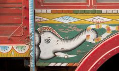 photo #truck #india #sign #painting