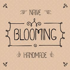 Blooming font on the Behance Network