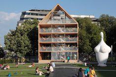 hammock house by heri&salli rebuilt for second incarnation in vienna