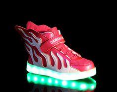 2016 new Kid's shoes led luminous shoes