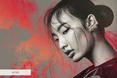 Red Smoke Photoshop Overlays – Premium Collection of Red Smoke Overlay