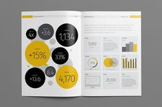 Annual Report Template on Behance #annual report