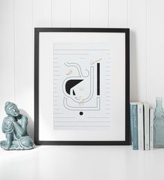Minimalist Arabic contemporary art for our bohemian homes.