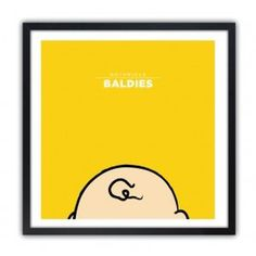 Notorious Baldie CHARLIE BROWN by Mr Peruca #print
