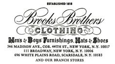 Brooks_Brothers_1969_logo.png (PNG Image, 566x316 pixels) #logo #brothers #script #brooks