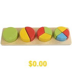 Children's #Puzzle #Early #Education #Wooden #Geometric #Toy #Puzzle #Shape #Board #- #ROUND