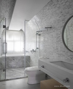 Minimalist White Residence in China by AD Architecture - InteriorZine #bathroom