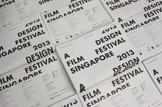Guide to A Design Film Festival 2013 on Behance #typography #layout #lettering #black and white #editorial #newspaper