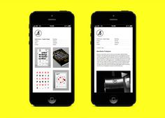 Portfolio Website on Behance #sousacom #small #smartphone #andre #size #screen #layout #collumns