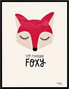 #nordic #design #graphic #illustration #danish #simple #nordicliving #living #interior #kids #room #poster #foxy #fox #red #animal