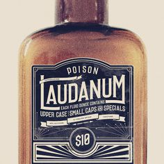 Laudanum Promotional Packageing #type #packaging #retro