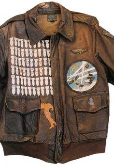 WWII bomber jacket art #jacket #bomber
