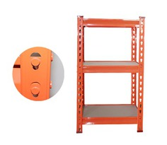 Hardy Hole RZ-1612-3ZH Orange Steel Storage Rack,3 Adjustable Shelves,Z-beams, Cold rolled steel strip,16*12*28 Inch-RZ-1612-3ZH
