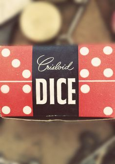 Type Hunting #packaging #mid #vintage #century #dice #typography